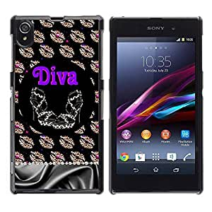 Paccase / SLIM PC / Aliminium Casa Carcasa Funda Case Cover - Girl Eve God Eden Drawing White - Sony Xperia Z1 L39 C6902 C6903 C6906 C6916 C6943