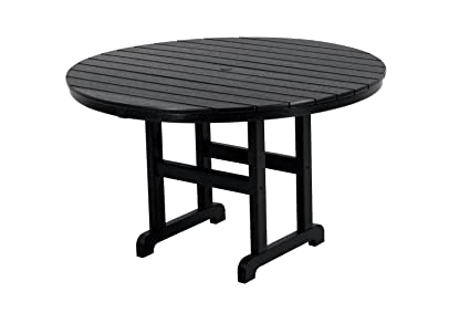 48 inch round dining table set polywood rt248bl round dining table 48inch black amazoncom