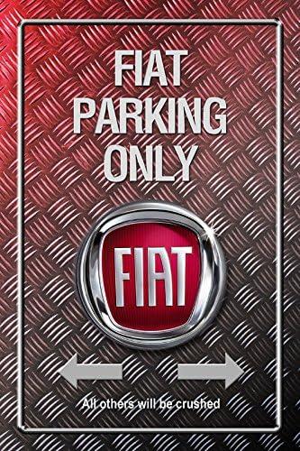 Deko 7/Piastra in lamiera Decorativa 7/30/x 20/cm DS-Automobiles Parking Only/ Moto. /Auto