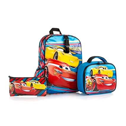 85611e464f65 Heys Disney Backpack with Lunch Bag and Pencil Case Kids School Bag Set -  Cars 15 Inch  Amazon.ca  Home   Kitchen