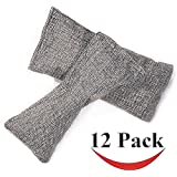 12 Packs Natural Air Purifying Bags - Mini Bamboo Charcoal Bags, Shoe Deodorizer and Odor Eliminator (75g Each Pack)