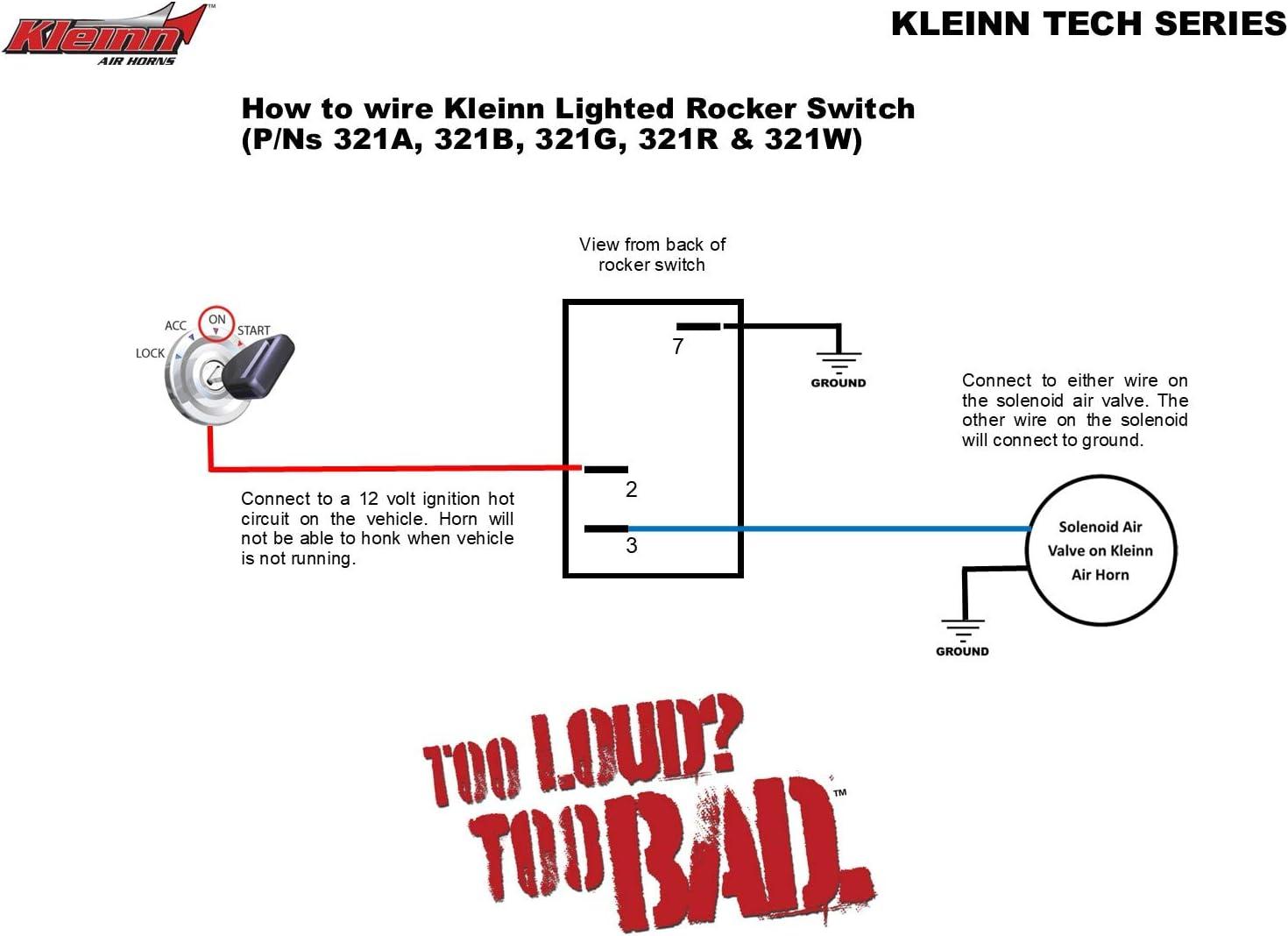 Amazon.com: Kleinn Air Horns Rocker Switch - Blue, 321B: AutomotiveAmazon.com
