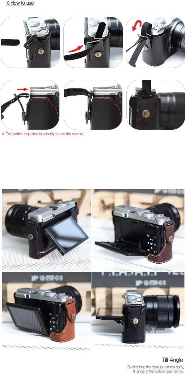 CIESTA Leather Camera Body Case Black CSJ-XM1-01 for Fujifilm X-M1//X-A1//X-A2