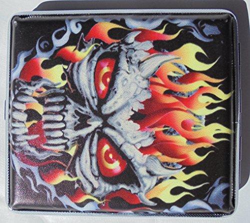 Metal Cigarette Case Skull Design