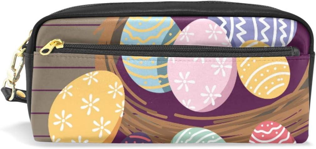 Happy Easter-Shop - Estuche escolar para lápices de niños con diseño de huevos de Pascua: Amazon.es: Oficina y papelería