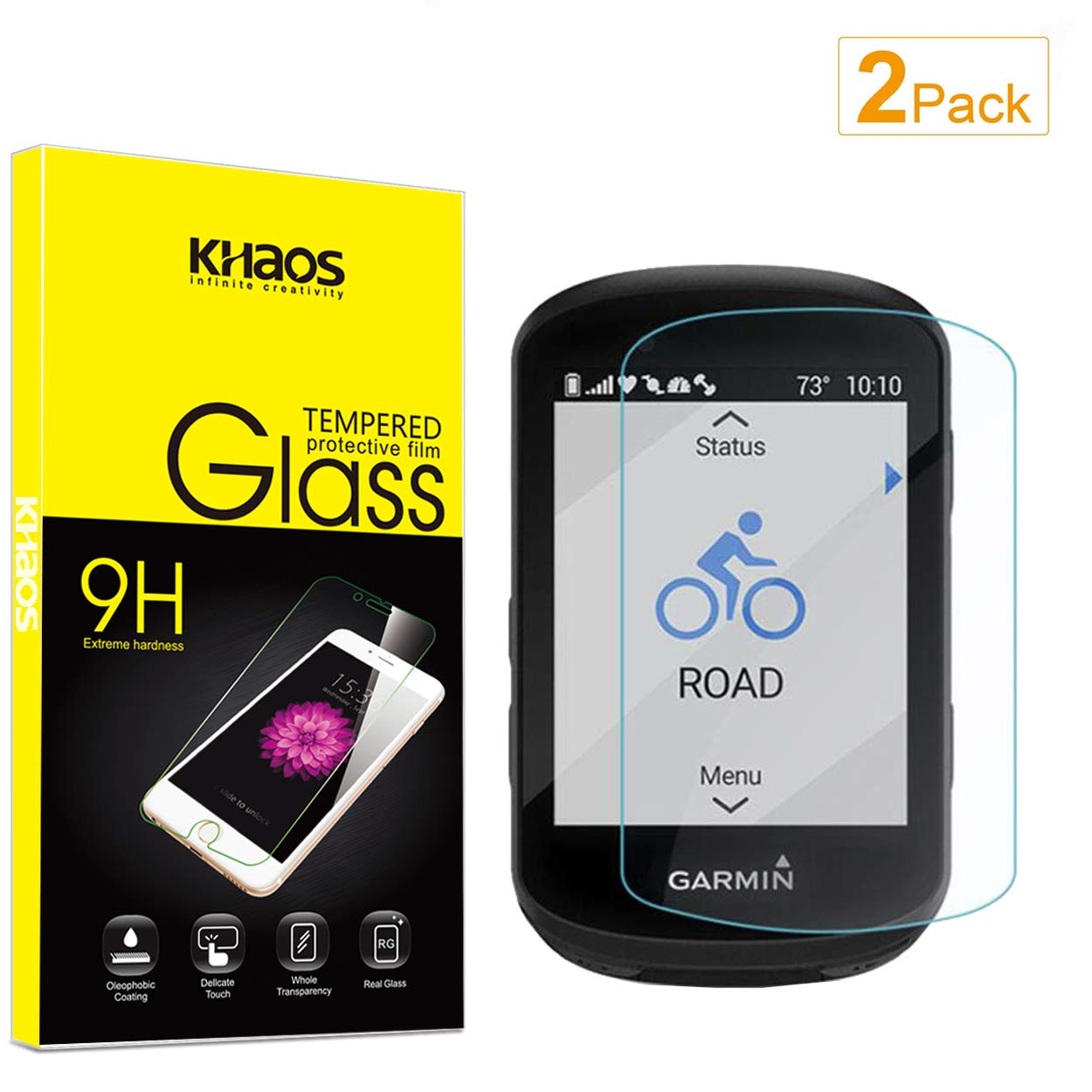 Supershieldz for Garmin Edge 130 Tempered Glass Screen Protector 2 Pack Anti Scratch Bubble Free