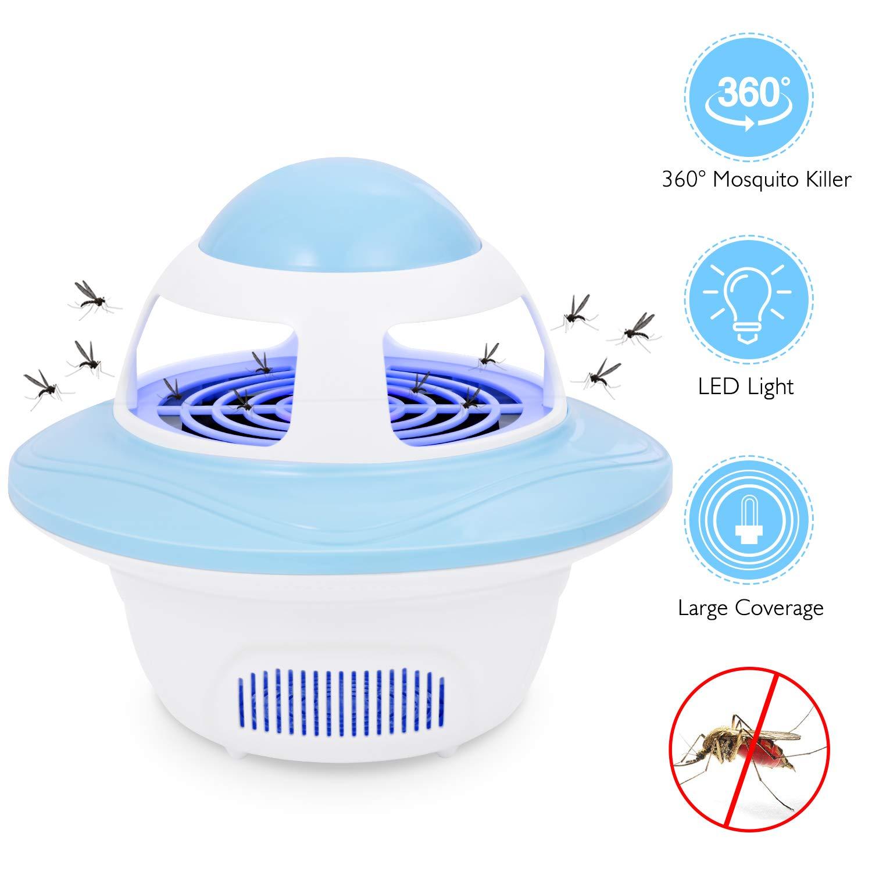 AdorioVix Bug Zapper - Lámpara electrónica para matar mosquitos de ...