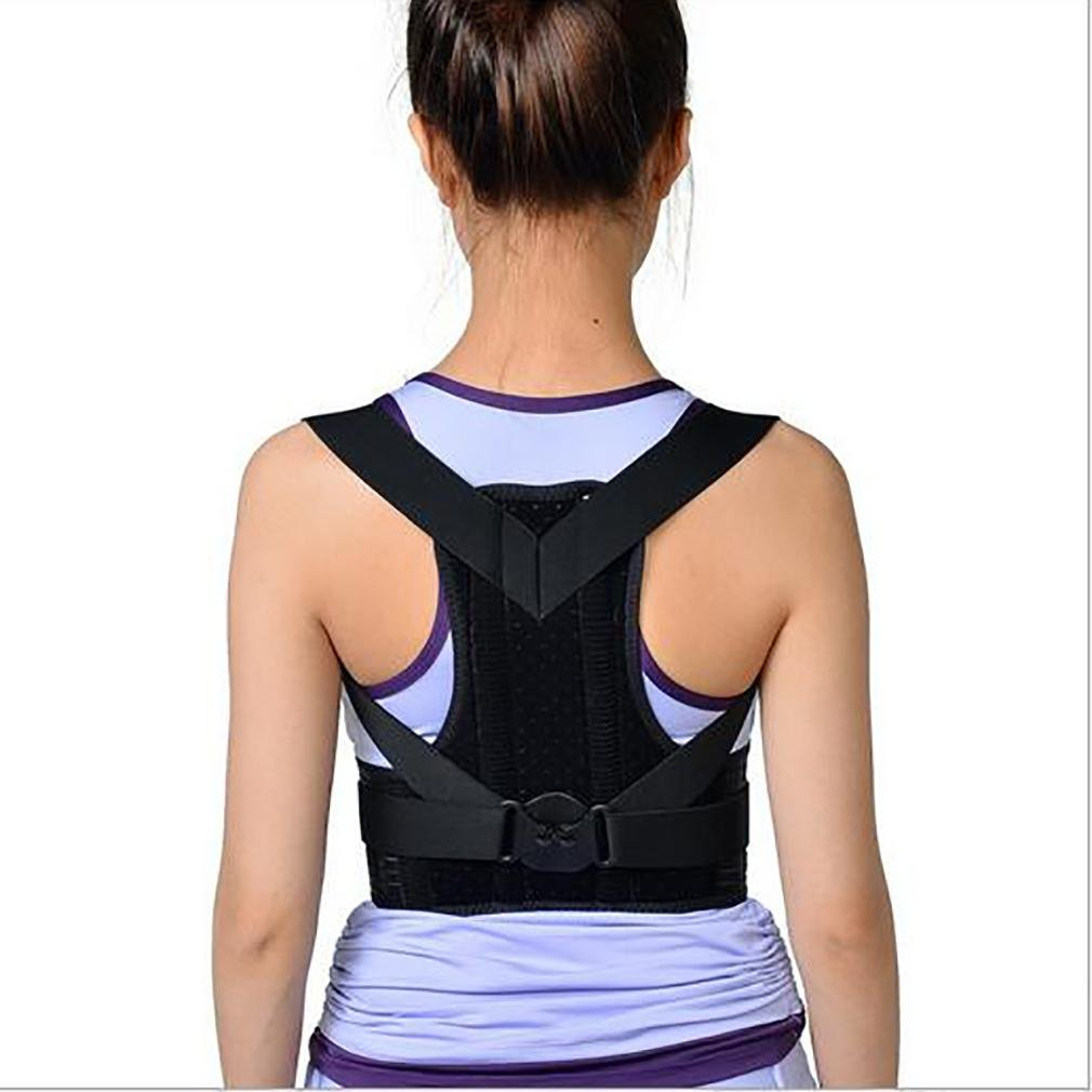 LPY-Posture Corrector Brace Clavicle Support Back Straightener Upper Back Shoulder Forward Head Neck Aid Straps, Improve and Fix Poor Posture for , m by Nursing supplies