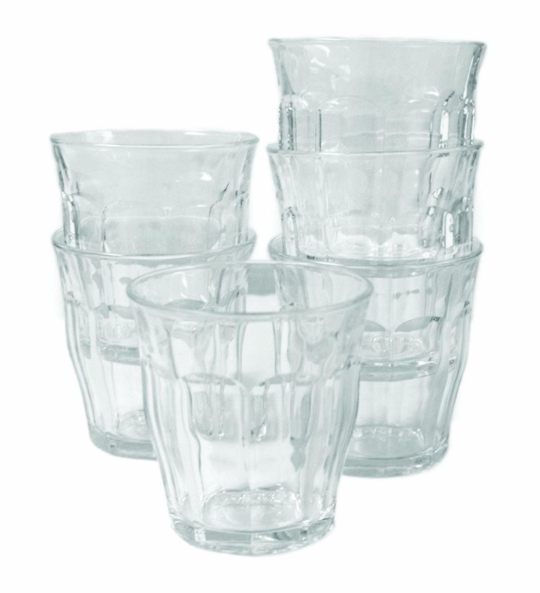 Duralex 22cl Picardie Tumbler Drinking Glasses Pack of 6 Picardie 22cl