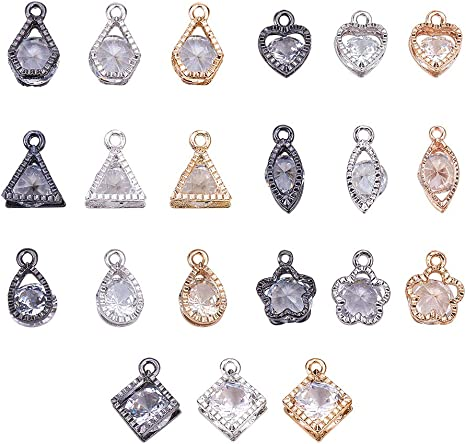 Little Girl Shape Diamond Charms Pendant NDCH-40033 16x12mm 925 Sterling Silver Pave Charms Pendant 1pc GemMartUSA