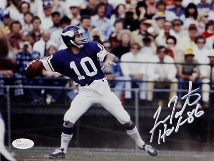 detailed look a0249 88c02 Fran Tarkenton Signed Minnesota Vikings 8x10 Photo w/ HOF ...