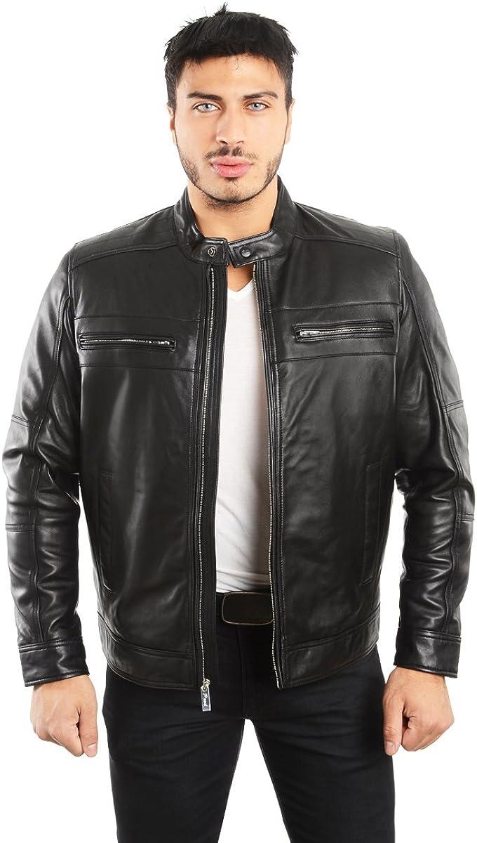 REED EST. 1950 Men's Genuine Biker OFFicial Leather Lambskin Max 67% OFF Jacket