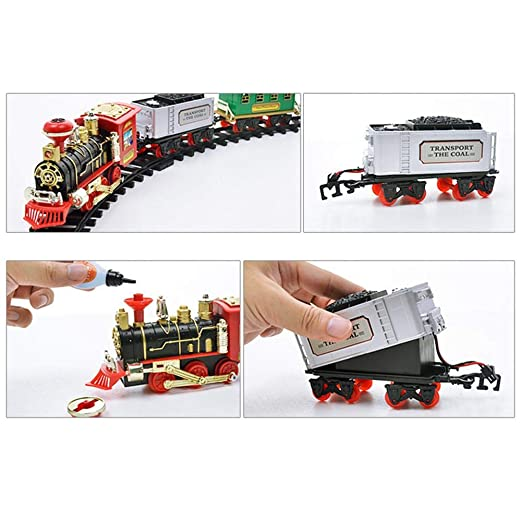 Tren de control remoto RC Modelo de Tren, Coches RC Radio Control Remoto Coche Tren Car Electric steam smoke: Amazon.es: Bebé