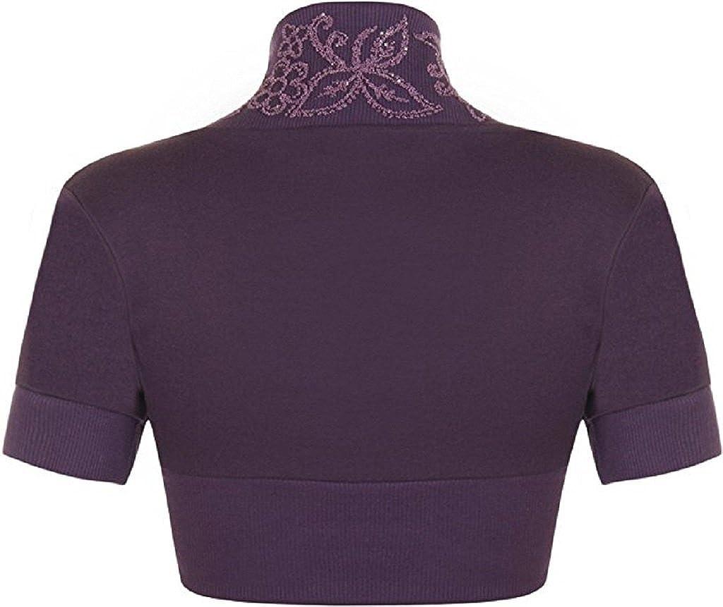 RM Fashions Womens Beaded Shrug Short Sleeve Bolero Crop Cardigan Top