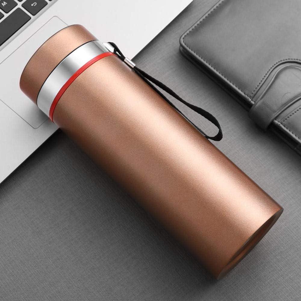 agua acero inoxidable botella termica Negocio minimalista moderno vaso recto aislamiento al vacío cup-600mL_Golden