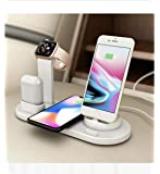 Wireless Charging Docking Station 3 in 1 Wireless Charger for Phone Watch Earphone