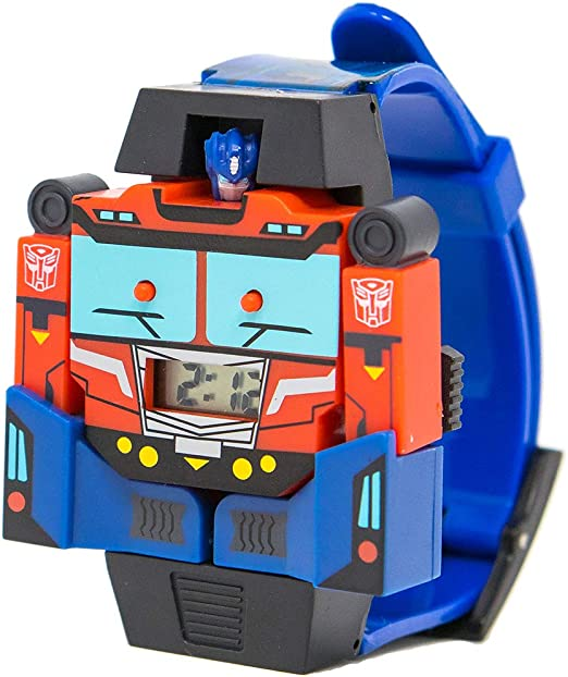 Montgomery Mirar Que pasa  Amazon.com: Transformer Optimus Prime Reloj Boy la última Caballero muñeca  reloj LCD: Watches