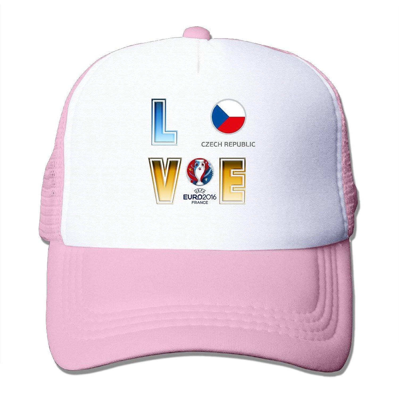 Swag I LOVE Czech Republic Adult Nylon Adjustable Mesh Hat Baseball Cap Black One Size Fits Most