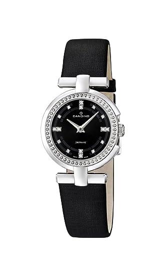 Candino Reloj Mujer de Cuarzo con Negro Esfera analógica Pantalla y Correa de Cuero Negro C4560/2: Amazon.es: Relojes
