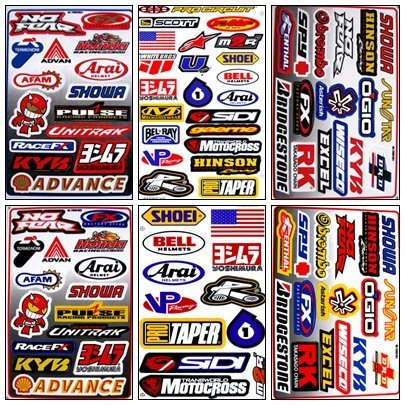 Graphic Racing Sticker Decal Motocross ATV Dirt 6 Sheets (Honda Sticker)