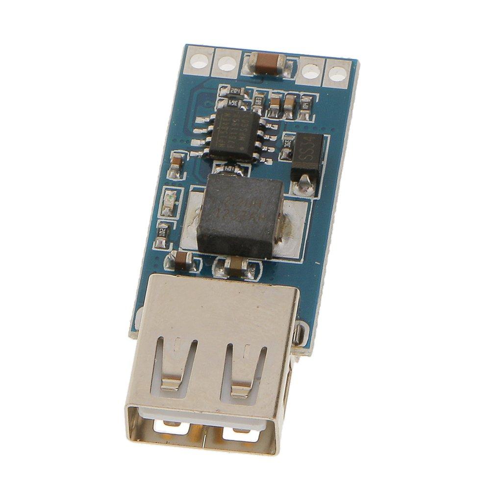 sharplace 1X modulo convertitore DC veicolo Caricabatteria da auto USB step-down modulo ingresso 7.5–28V