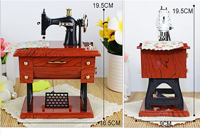 WYFC Caja De Música Antigua De La Máquina De Coser: Amazon.es: Hogar