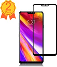 BBInfinite [2 Pack] LG G7 ThinQ Screen Protector 9H Hardness/Anti-Scratch/Anti-Fingerprint/High Definition/Ultra Clear Tempered Glass for LG G7 ThinQ Screen Protector(Black)