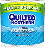 Quilted Northern Ultra Soft & Strong Mega Rolls with Cleanstretch - 12 CT