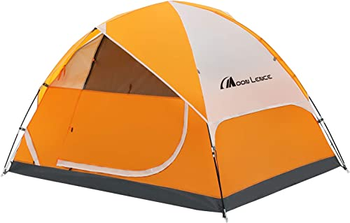MOON LENCE Camping Tent 2 4 6 Person Family Tent Double Layer Outdoor Tent Waterproof Windproof Anti-UV