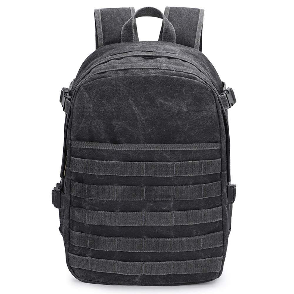 Photography Backpack Jedi Survival Canvas Bag Camera Bag Backpack SLR Digital Camera Bag Dark Gray 30X16X47CM by M.T.E