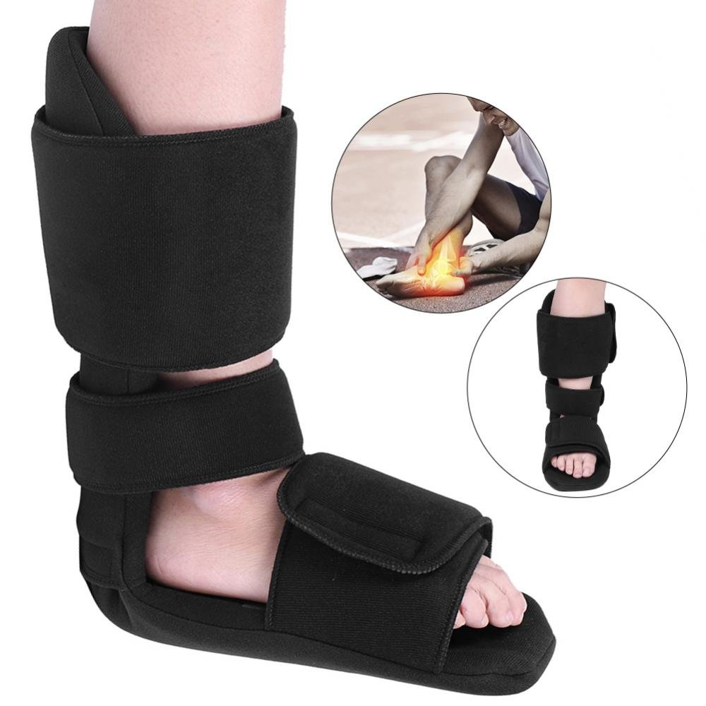 ZJchao Foot Stabilizer Orthosis, Adjustable Foot Drop Orthosis Ankle Postural Corrector Brace Correction Night Splint (L)