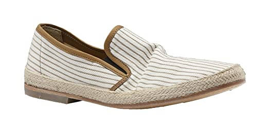 N.D.C Mens Beige Striped Espadrille Size 46