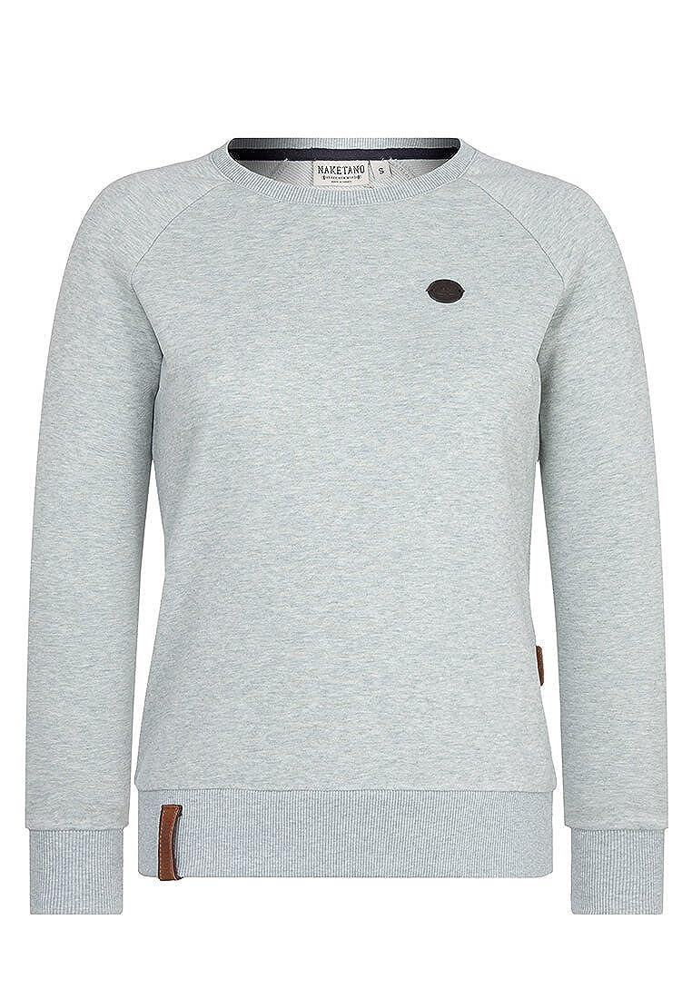 Naketano Female Sweatshirt Fick und Fotzi Dark Night Melange