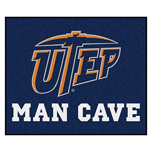 Utep Tailgater Rug (NCAA UTEP Miners Man Cave Tailgater Rectangular Mat Area Rug)