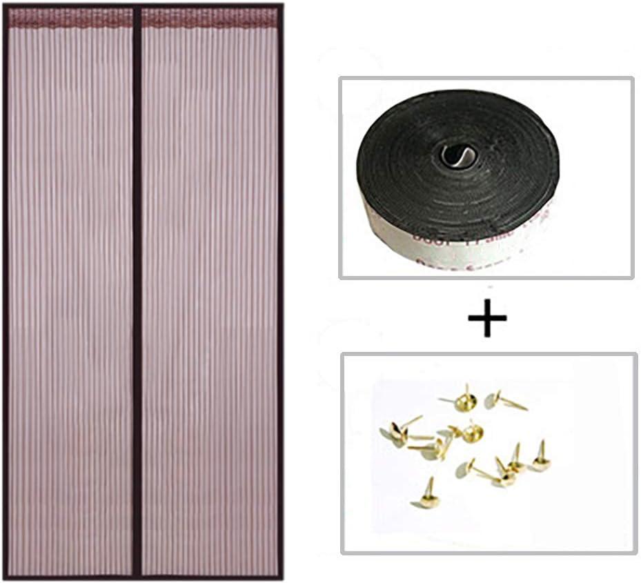 moustiquaire magn/étique D/ätenky marron terrasse Moustiquaire de porte salon montage sans per/çage pour porte de balcon