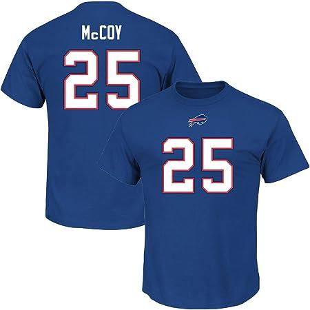 Majestic LeSean McCoy #25 Buffalo Bills Player NFL T-Shirt Blue ...