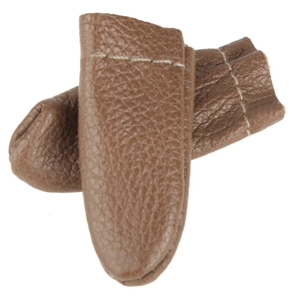 5 Pairs Needle Felting Leather Finger Protector Thumb Index Thimble Guard Knitting Random Color Thumb Index Finger Thimble