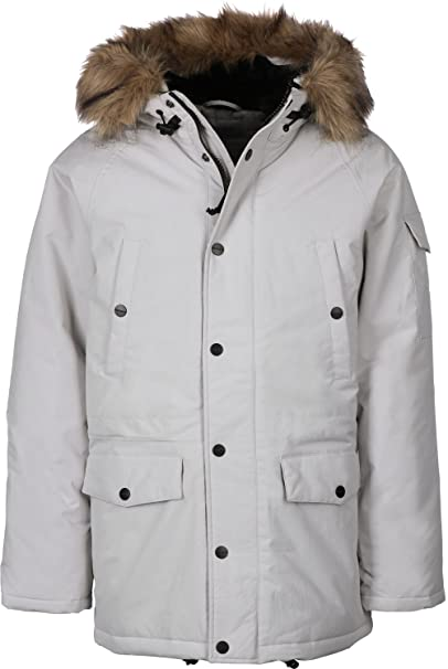 Carhartt Anchorage Parka Jacket Cinder/Off White L: Amazon.es: Ropa y accesorios