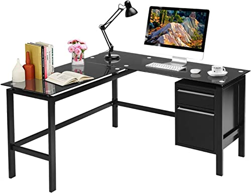 L Shaped Desk 56″ Computer Corner Desk
