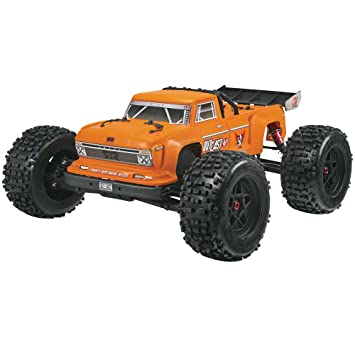 ARRMA Outcast BLX Brushless 4WD RC Stunt Truck RTR (6S Lipo Battery  Required) with 2 4GHz Radio | 1:8 Scale (Orange)