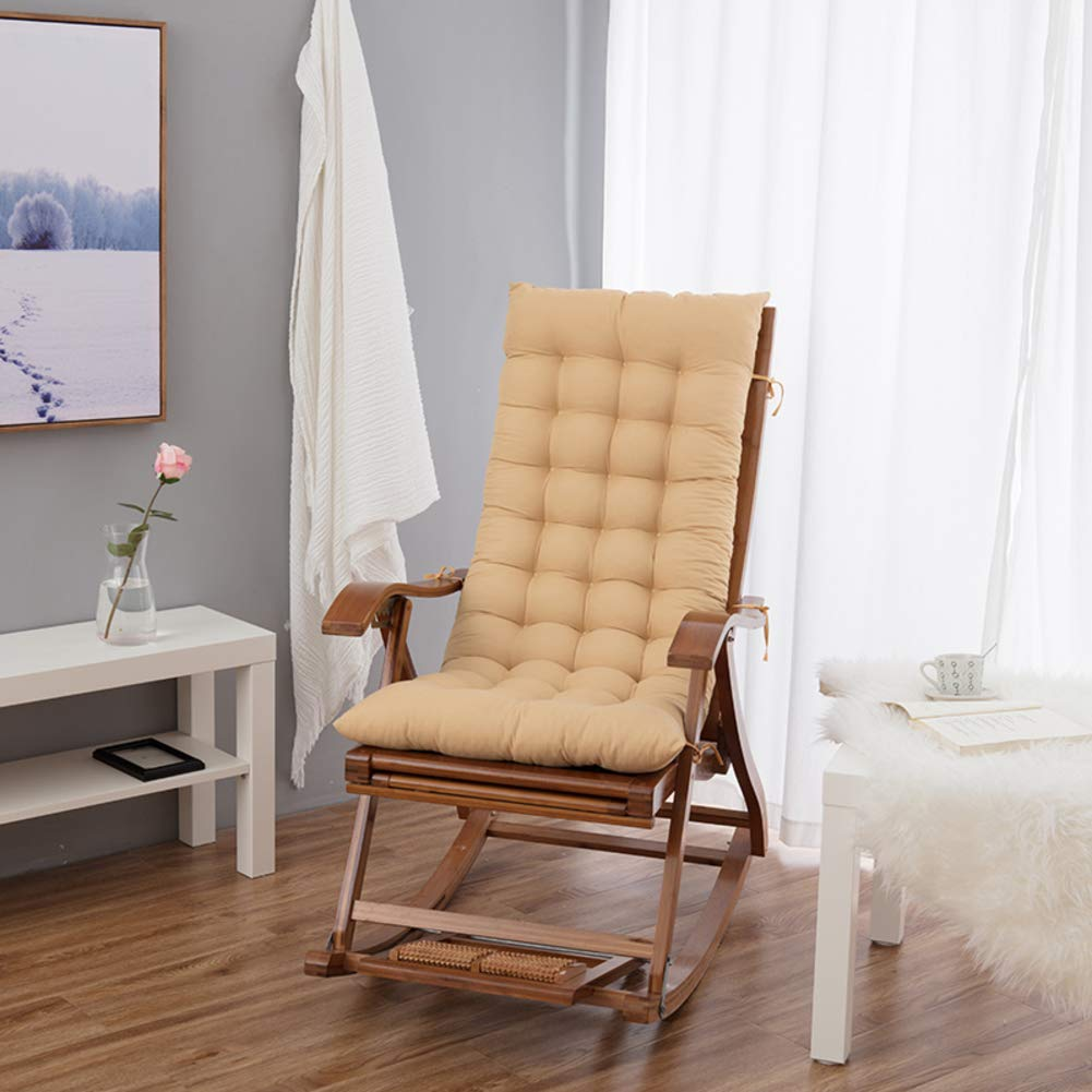Ritaba Plush Wicker Chair seat Cushion Pad Rocking Chair Cushion Set High Back Chair Cover Chaise Lounge Cushion for Bench Bay Window Basket Chair-F 122x50x8cm(48x20x3inch)