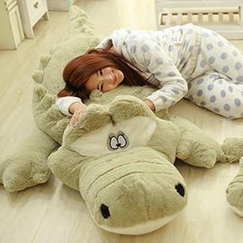 Almohada De Cocodrilo Lindo Animales juguetes de peluche Cuerpo de apoyo / Lumbar Almohadas Dormir Arrojar