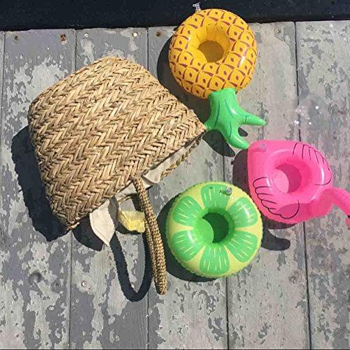 DATO 3 Piezas Flotador Posavasos Titular de la Taza Piscina Inflable Bebida Flotador Juguetes de Baño para Niños y Adultos - Piña: Amazon.es: Juguetes y ...