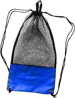 MagiDeal Netzbeutel Mesh Bag, Netztasche mit Schultergurt (74cm x 33cm) für Erwachsene Tauchen Schnorcheln Schwimmen Ausrüstung Rucksack Aufbewahrungsbeutel Tragetasche Flossentasche - Schwarz
