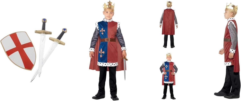 Fancy Dress World - Disfraz de Rey Arturo Medieval para niños ...