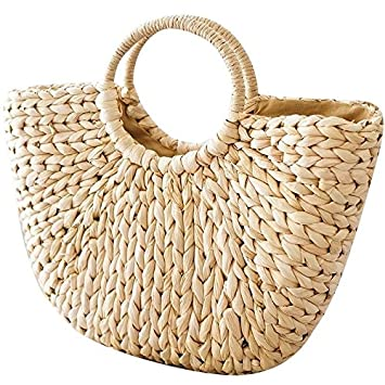 couleurs délicates Meilleure vente 100% de qualité supérieure Sacs à main en osier, pour femme, cabas de plage en paille tissée, sac  d'été, panier en rotin, sac rétro, OneMoreT.