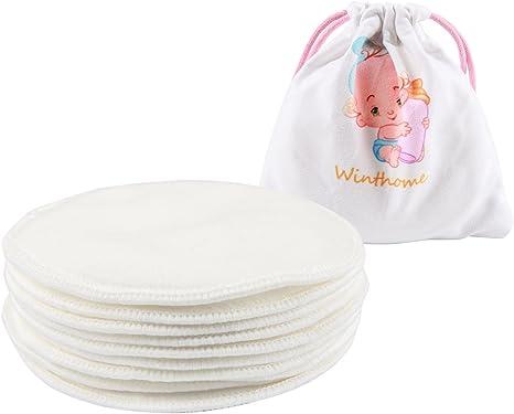 10pcs suaves lavables almohadillas de lactancia algodón orgánico ...