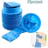 25pcs Disposable Medical Sick Vomit Bag 1000ML Bag Puke Travel Or Emergency Sick Hospital Air Sickness Refractive Bag with Mouthpiece (Blue)