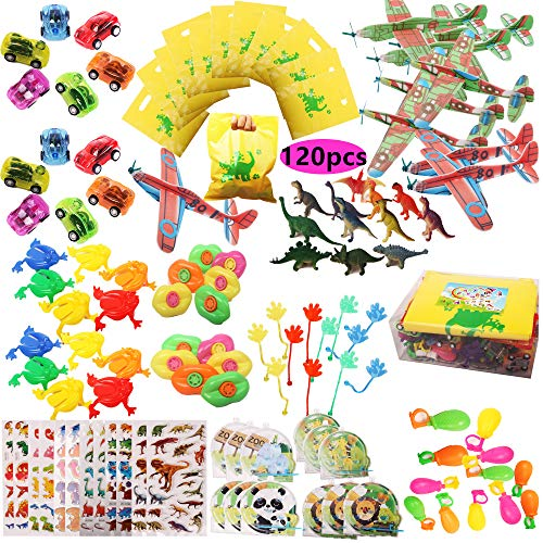 Toy Assortment 120PCS Prize Box Toys for Classroom Pinata Filler Toys for Kids Birthday Party Favors Assorted Carnival Prizes for Boys and Girls Treasure Box / Chest Prizes Toys for ()
