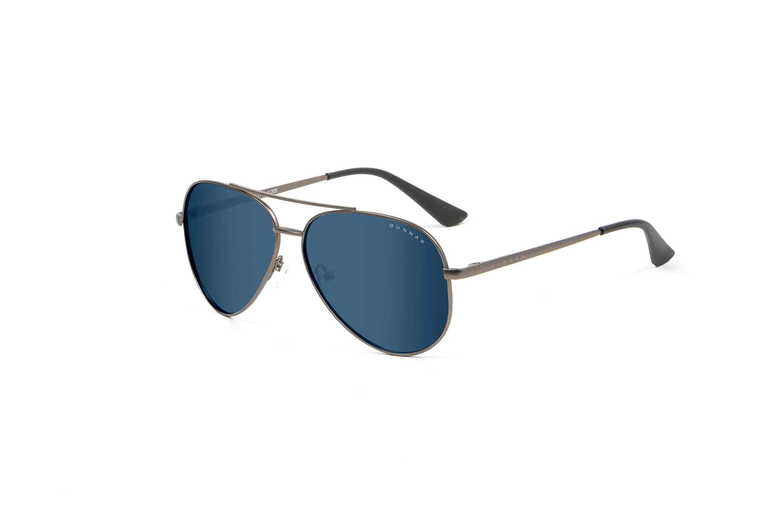 GUNNAR Gaming and Computer Eyewear /Maverick Sunglasses - Patented Lens, Reduce Digital Eye Strain, Block 90% of Harmful Blue Light